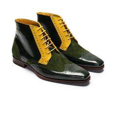 Wingtip Multi Color Genuine Suede Leather Brogue Toe