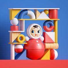 Alex Fedotov on Behance 3d Character, Character Design, Kid Fonts, Back In The Ussr, Maxon Cinema 4d, Banner Images, Animal Masks, 3d Artwork, Designer Toys