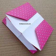 8 Pocket Folder from One Sheet of Paper Folder Diy, Pocket Page Scrapbooking, Diy And Crafts, Paper Crafts, Paper Pocket, Paper Book, Handmade Books, Folded Cards, Junk Journal