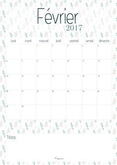 Calendrier février 2017 La Capuciine