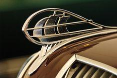 1936 Plymouth Sedan Hood Ornament - Car Images by Jill Reger