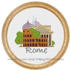 Cross Stitch Pattern PDF Rome city DD0154