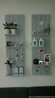 Decorative Pallet Shelves