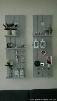 Decorative Pallet Shelves