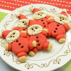 Roly-Poly Santas, Holiday Cookie Exchange Ideas