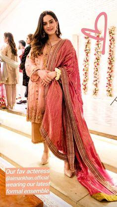 Source by clothes vocabulary Pakistani Wedding Dresses, Pakistani Outfits, Saree Photoshoot, Aiman Khan, Eid Dresses, Fashion Vocabulary, Pakistani Actress, Punjabi Suits, Cool Suits