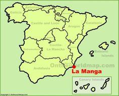 La Manga location on the Spain map