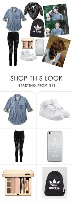 """Seventeen Dk ❤"" by badgirl0798 ❤ liked on Polyvore featuring Hollister Co., NIKE, adidas and MCM"