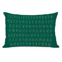 Numbers Lumbar Pillow
