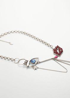 Mixed bead necklace - Jewellery for Women | MANGO USA