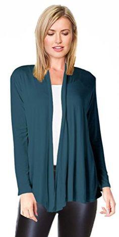 Womens Long Sleeve Open Front Sweater Cardigan - Teal - http://www.darrenblogs.com/2017/02/womens-long-sleeve-open-front-sweater-cardigan-teal/