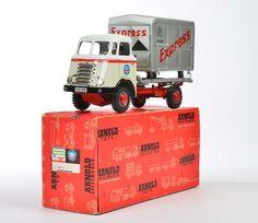 Arnold, Express 8810 Container LKW, W.-Germany, 29 cm, Blech, Friktion ok, Okt Z 2 (Deckel eingerissen), Z 1  Arnold, Express 8810 Container Truck, W.-Germany, tin, friction ok, box C 2 (lid torn), C 1