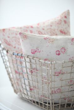 Sweetpea and Roses by Peony and Sage Fabrics. Image by Dreamy Whites