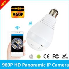 Mini Camcorders Trustful Home Smart Bulb Lamp 360 Degree Panoramic Fisheye Mini Ip Wifi Hd 1080p Wireless Camera Security Surveillance Support Tf Card Elegant In Smell