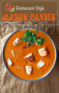 Restaurant Style Matar Paneer made is a delicate tomato sauce with roasted paneer | #indianfood #vegetarian #comfortfood #restaurantstyle #homemade #paneer #dinner #familymeals