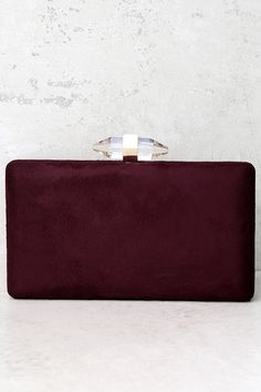 67df4c52976f31 The future is looking awfully chic now that the Crystal Visions Burgundy  Clutch is in your