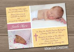 Christening Invitation Baptism Invitation by WhimsicalCreationsPC, $14.99