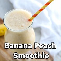 This Banana Peach Smoothie is easy and kid friendly.