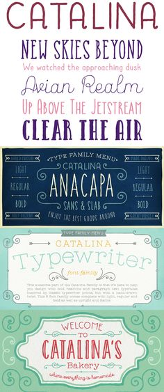 Catalina by Kimmy Kirkwood of Kimmy Design. Font Family, Lettering Design, How To Draw Hands, Fonts, Typography, Type, Diy, Lyrics, Designer Fonts