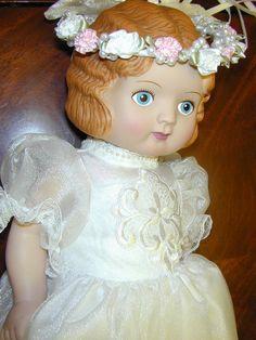 "Vintage 1991 Daisy Kingdom Bride Doll 1920s Flapper Cute Bridesmaid 18""Vinyl"