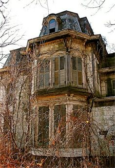 70 Abandoned Old Buildings.. left alone to die, Halloween in Ohio I love the upper floor with shutters