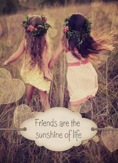 "Deze kaart zegt genoeg: ""Friends are the sunshine of life""."