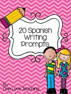 Use these prompts as warm-ups, during centers, or for early finishers. Includes 20 Spanish prompts.  Tarjetas de escritura para su clase.