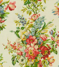 Home Decor Print Fabric-Waverly Grand Entrance/Ivory