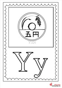 Litera Y - Planșă de colorat