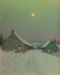 """""""Christmas Eve,"""" Birge Harrison, oil on canvas, 20-1/4 x 16-1/4"""", private collection."""