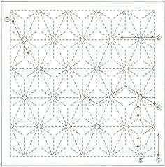 Sashiko Pattern 1006 - International Fabric Collection of quilt and fashion fabric.