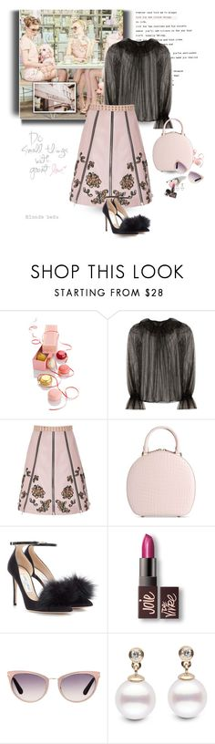 """""""Happy are those who are thankful for the little things in life"""" by blonde-bedu ❤ liked on Polyvore featuring Sebastian Professional, Dolce&Gabbana, Rodarte, Simone Rocha, Jimmy Choo, Laura Mercier and Tom Ford"""