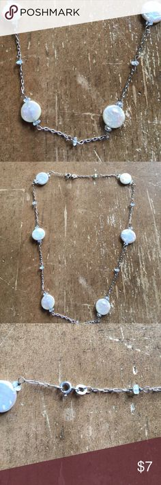 Necklace Sterling silver 925 and Perls Necklace Sterling silver solid 925 and Perls Jewelry Necklaces