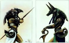 Horus & Anubis #Egypt #Mythology