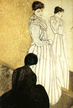 The Fitting, 1890-91, color drypoint & aquatint, National Gallery of Art, Washington D.C.