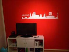 FC Bayern München Skyline - originale FCB Wandtattoos | wall-art.de