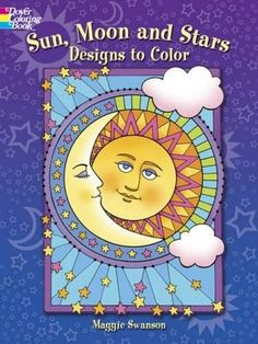 Sun, Moon and Stars Designs to Color (Dover Coloring Books)