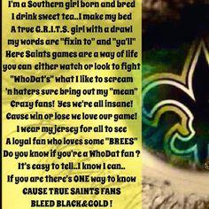 New Orleans Saints Girl...Thru & Thru
