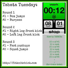 TABATA Tuesday with FitKnitChick #FitFluential