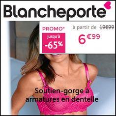 #missbonreduction; Economisez jusqu'à 65 % sur le Soutien-gorge à armatures en dentelle chez BlanchePorte.http://www.miss-bon-reduction.fr//details-bon-reduction-BlanchePorte-i688128-c1829476.html