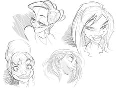 How to Draw a Cartoon Face Correctly by Carlos Cabral, via Behance
