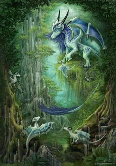 Dragons and other Creatures of Mythology Little Dragon, Baby Dragon, Dragon King, Magical Creatures, Fantasy Creatures, Dragon Bleu, Dragon Oriental, Dragon Dreaming, Dragon's Lair