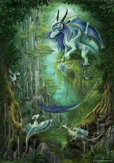 Dragons and other Creatures of Mythology Magical Creatures, Fantasy Creatures, Fantasy Kunst, Fantasy Art, Photo Dragon, Dragon Bleu, Dragon Oriental, Dragon Dreaming, Beautiful Dragon