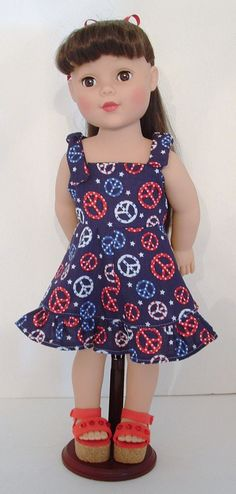 Red White And Blue Peace Sundress CLEARANCE by MyGirlClothingCo, $9.00