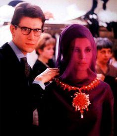1962 - Yves Saint Laurent with Victoire Doutreleau,