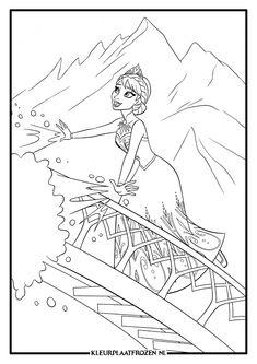 Kleurplaten Frozen Afdrukken.10 Beste Afbeeldingen Van Kleurplaat Elsa Coloring Books Coloring