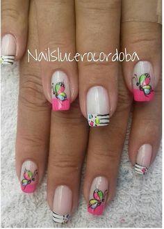 Nails Inspiration, Beauty Hacks, Beauty Tips, Nail Arts, Cool, Beautiful, Work Nails, Fingernails Painted, Nail Manicure