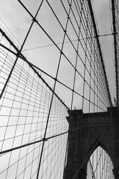 Free stock photo of black-and-white, suspension bridge