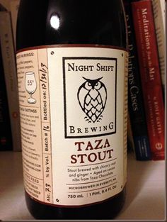 Night Shift Brewing Taza Chocolate Stout - a really delicious #beer made locally in the #Boston area