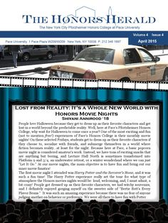 Honors Newsletter April 2015